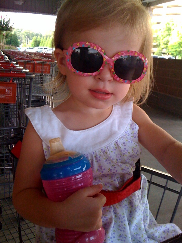 Bree sporting her new shades
